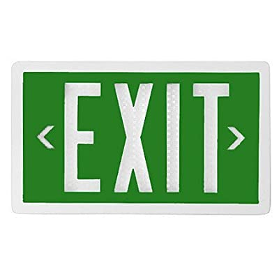 Green Self-Luminous Tritium Exit Sign with 20-Year Life