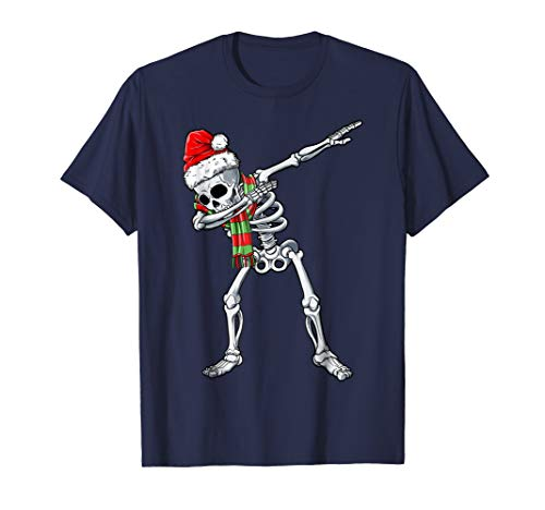 Dabbing Skeleton Santa T shirt Christmas Kids Boys Dab Gifts]()