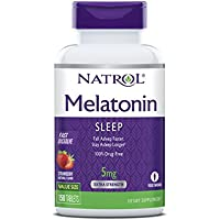 Natrol Melatonin Fast Dissolve Tablets 5mg 150 Count (Strawberry Flavor)