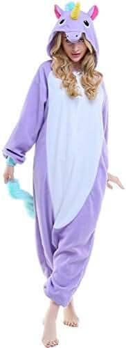 Adult New Purple Unicorn Onesie Pajamas Kigurumi Cosplay Costumes Animal Outfit
