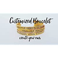 Customized Cuff Bracelet Brass Personalized Bracelet