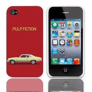 RC - Pulp Fiction Design Hard Case with 3-Pack Screen Protectors for iPhone 4/4S