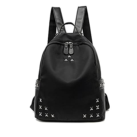 RETON Women & Girls Oxford Cloth Shoulder Bag Fashion Casual Female Backpack Rivet Bag (Violin Size 1 2 Oxford)