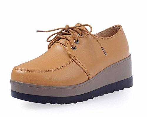 Mme printemps et l'automne Mme chaussures d'ascenseur chaussures de sport avec des chaussures pente muffin simples , US8 / EU39 / UK6 / CN39