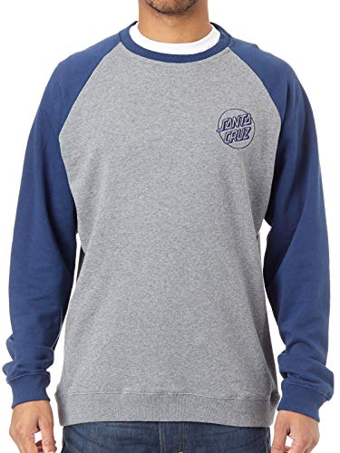 Santa Cruz Sweat Shirt Raglan Outline Crew Indigo-Dark Heather