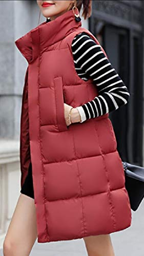 Padded Sleeveless Cotton Quilted Vest Down TTYLLMAO Thickened Women's Long 3 n7qgpW4