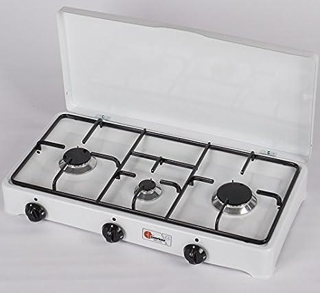 Parker - Hornillo de cocina de gas (3 fuegos, piloto de ...