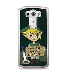 Will Cut Grass For Rupees Zelda White Hardshell Case for LG G3
