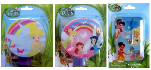 Disney Fairies Night Light and Switch Plate Cover Set (Disney Store Fairies)