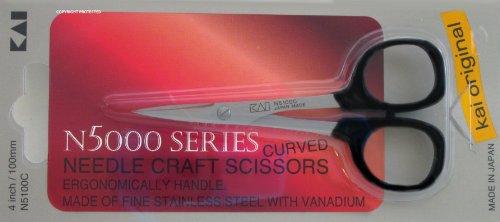 Kai 5100C 4-inch Curved Tip Needlecraft Scissors by Kai