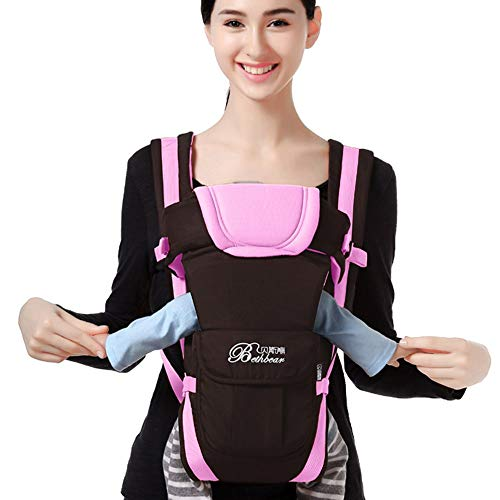 Swift Carrier - Clearance!Newborn Baby Boys Girls Carrier with Hip Seat for 0-36 Months Cuekondy Infant Toddler Sling Wrap Backpack Front Back Chest Ergonomic 4 Position (Pink, 0-36 Months)