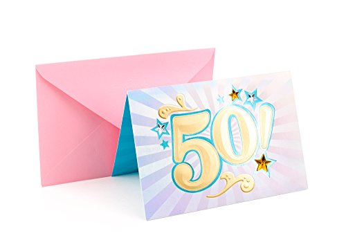 Hallmark 50th Birthday Greeting Card (Bling)