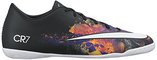 Nike Men's Mercurial Victory V Cr Indoor Cleat  Black/White/Total Crimson Indoor Soccer Shoe 9 Men US