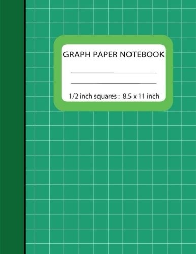 Graph Notebook 1/2 inch Squares: Blank Quad Ruled 110 Square Grid Pages Large (8.5
