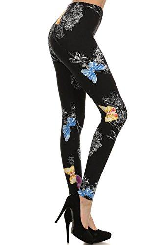 S0821-OS Butterflies Print Fashion Leggings
