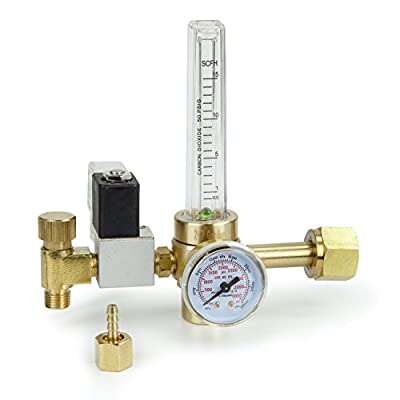 Best Cheap Deal for 247Garden CO2 Regulator with Solenoid Valve 110V, Forged Brass Body, Nylon Washer, 4000 PSI Pressure Gauge, 0.5-15 SCFH Compatible for Indoor Gardening, Hydroponics, Beer Brewing by 247Garden - Free 2 Day Shipping Available