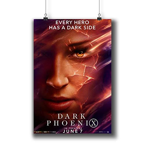 X-Men:Dark Phoenix (2019) Movie Poster Small Prints 244-413 Sophie Turner,Wall Art Decor for Dorm Bedroom Living Room ()