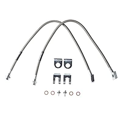Rubicon Express RE1550 Front Stainless Steel Brake Line Set: Automotive