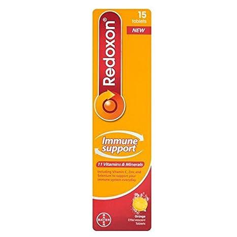 Redoxon Apoyo Inmune comprimidos efervescentes 15 por paquete
