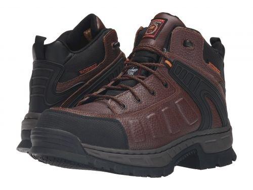 SKECHERS Work(スケッチャーズ) メンズ 男性用 シューズ 靴 ブーツ 安全靴 ワーカーブーツ Vinten Gurdon Brown Embossed Leather [並行輸入品] B07F9Z26F3 7 D Medium