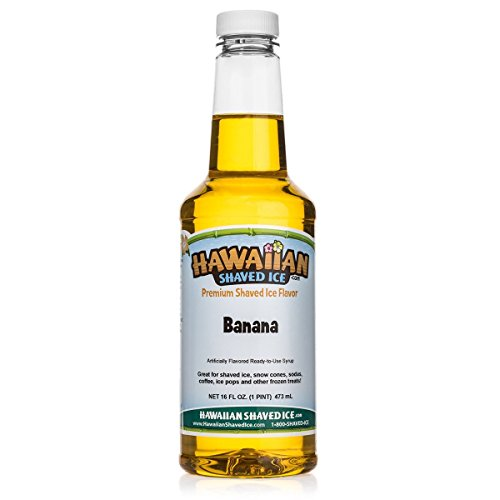 - Hawaiian Shaved Ice Banana Snow Cone Syrup, 1 Pint