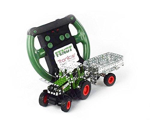 Tronico Toys 09521 - Metallbaukasten - Traktor Fendt 800 Vario mit Kippanhänger, ferngesteuert, Maßstab 1:64