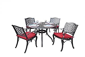 AC HOME & PATIO A/AC15-7PC-D Richmond 7 Piece Outdoor-and-Patio-Dining-Sets, Dark Brown