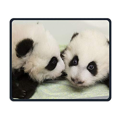 Price comparison product image Mouse Pad Zoo Panda Brother Whisper Play Office Rectangle Non-Slip Rubber Mousepad Retro Gaming Mouse Mat for Laptops Computer Monitors Tablets Keyboards