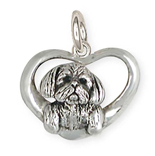 Shih Tzu Bracelets - Esquivel and Fees Shih Tzu Jewelry Sterling Silver Shih Tzu Charm Handmade Dog Jewelry SZ23-C