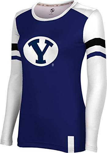 ProSphere Brigham Young University Women's Long Sleeve Tee - Old School FF1A - Brigham University Young Fabric