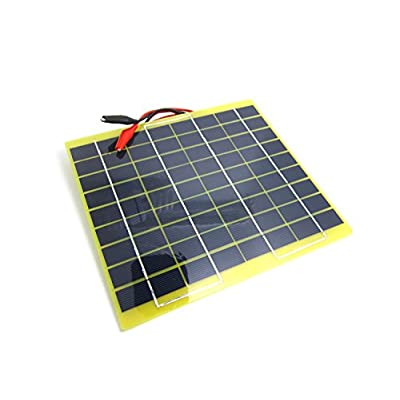 NUZAMAS Portable 5W 12V Solar Panel Module Battery Charger with Battery Clips Diode Over Charge Protection Easy Carry for Camping Hiking Fishing Hunting : Garden & Outdoor