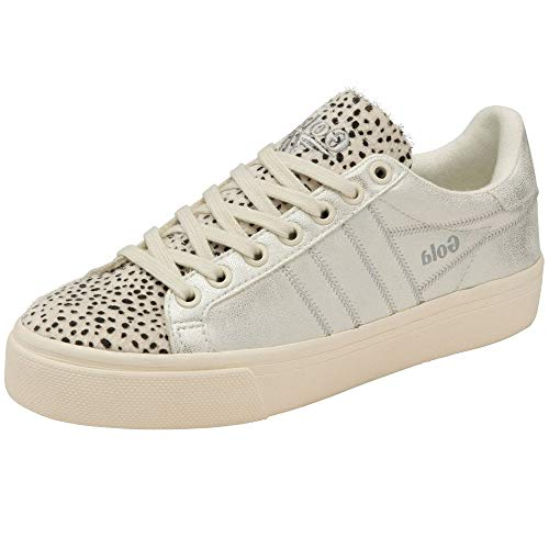 Gola Orchid Ii Cheetah Trainers Women White/Silver Low Top Trainers Shoes