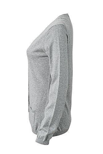James & Nicholson Cárdigan de punto Chaquetas Light-Grey-Melange