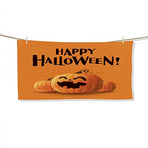 FootMarkhome Fiber Reactive Beach Towel Happy Halloween! Halloween