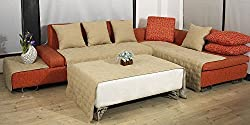 Set of 2 Beige Large Size 20x20 Bonded or Classic Micro Suede Sofa Cushion Cover / Case