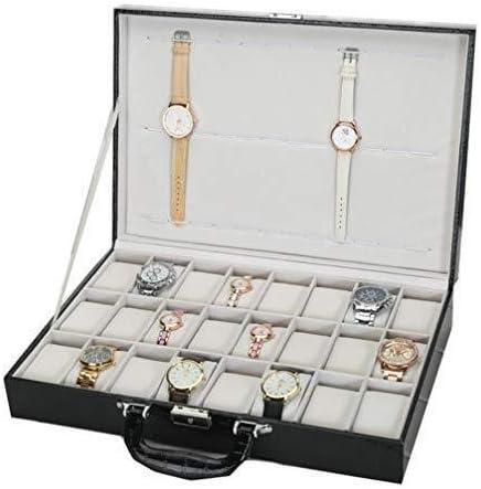 LNDDP Caja Reloj Caja Reloj Joyero 24 Reloj Cuero celosía Vitrina ...