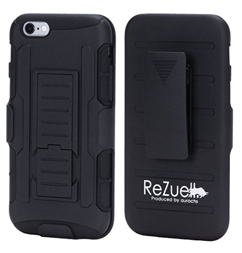 iPhone6 iPhone6s apple [ReZuell.]2重構造 ポリカーボネート シリコン 対衝撃ケース (ブラック)