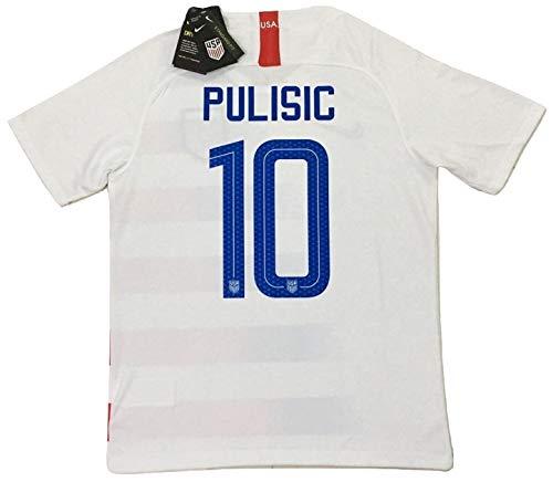 d35fc25ec Enevva Pulisic #10 Men's USA National Team 2018-2019 Home Soccer Jersey  White (Men's Medium)