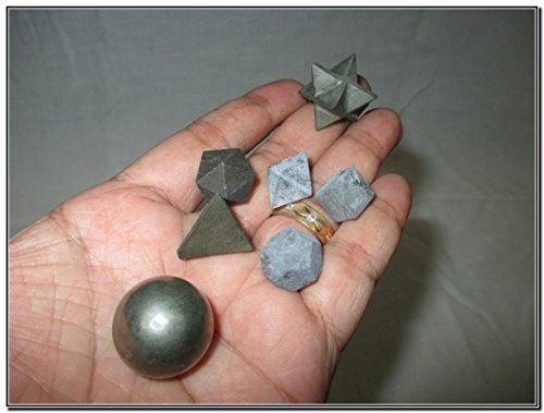 Price comparison product image Wow A++ Pyrite 7 Stones Sacred Geometry Sets Gemstone Platonic Solid Top Grade Quality Merkaba Star w / Velvet Pouch Attractive Cleansing Life Vitality Healing Chakra Balancing DNA Energy Grid Activation Past Life Meditation Dream Work Knowledge Progress Prosperity Success Love Healing Divine Business Success Air Water Earth Fire Spirit Soul Mind Body Cleansing Life Regression Rebirth Arthritis Doctor India Vedas Internal Strength Power Peace Progress Prosperity Positive Energy Disease Resistant Disorder Stress Relief Pain Relief Exams Ambition Students Pregnant Ladies Old Age Young Adult Men Women Females Magical Fortune Luck Fate Skills Communication Orator Politics Evil Eye Birthday Anniversary Event Occasion Result Goal Motivation Inspiration Concentration