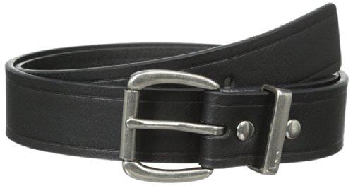 Levi's Big Boys' Drew Roller Buckle Belt, Black, Large/30-32 Inches