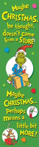 Eureka Dr. Seuss Vertical Classroom Banner, The Grinch, Measures 45 x 12""