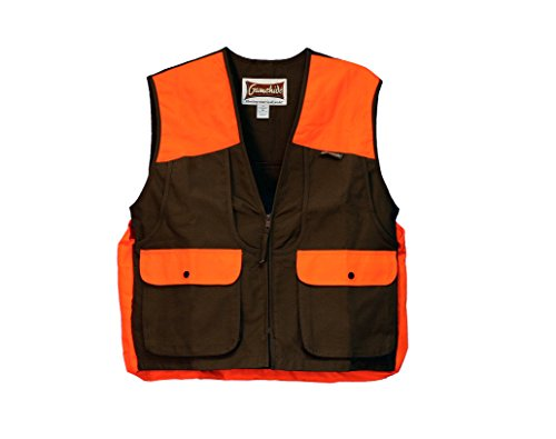 Men's Gamehide Upland Vest, Dark Brown/Orange, XL