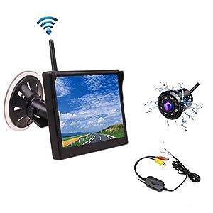 camecho wireless car backup camera system 5. Black Bedroom Furniture Sets. Home Design Ideas