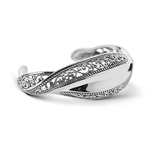 Carolyn Pollack Signature Genuine .925 Sterling Silver Wave Cuff Bracelet by Carolyn Pollack