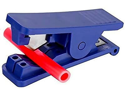 Plastic Tube Cutter For 1/8 1/4 3/8 & 1/2 Od Polyurethane Nylon And Vinyl Plastic Hose Or Tubing