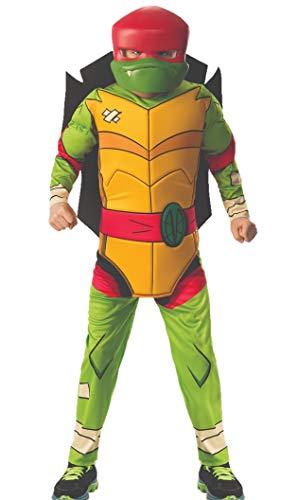 (Boys Rise of The Teenage Mutant Ninja Turtles Deluxe Raphael Costume (Small, Red-)