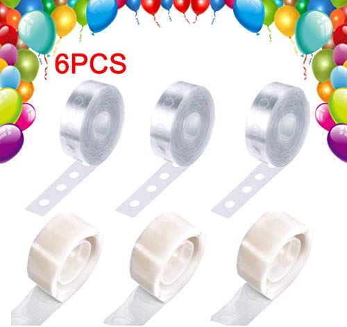 UFelice 48Ft Clear Balloon Decorating Strip Tape + 300 Dot Glue for Wedding DIY Party Balloon Decorations Garlands]()