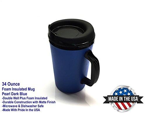 ThermoServ 535A02601A1 Foam Insulated Mug, 34-Ounce, Pearl Dark (Insulated Plastic Mug)