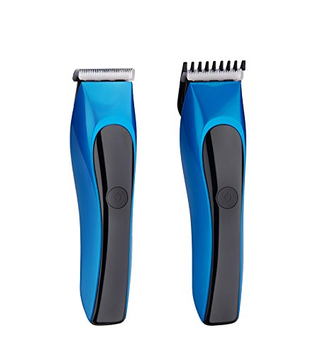 JD Rechargeable Cordless Hair Clipper for Men Women Baby Kids with Wet Dry Convenience Ultra Quiet Professional Hairtcuts (Blue)