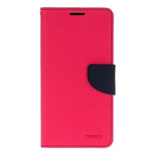 LG V10 funda,COOLKE Dos Colores Funda Carcasa Cuero Tapa Case Cover Para LG V10 - Rose Rose